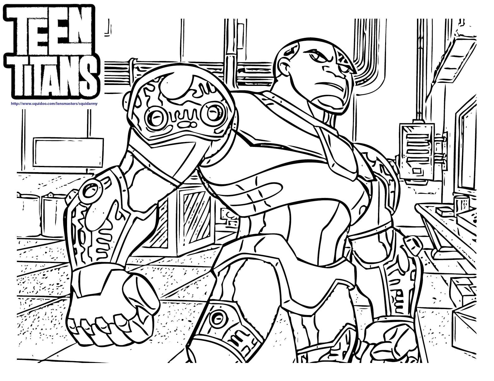 8 Pics of Teen Titans Cyborg Coloring Pages Cyborg Teen Titans