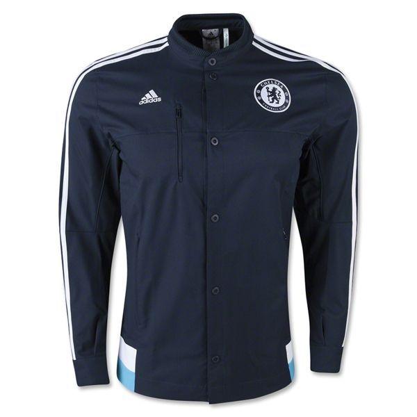 adidas Men's Chelsea Anthem Jacket Marine/White