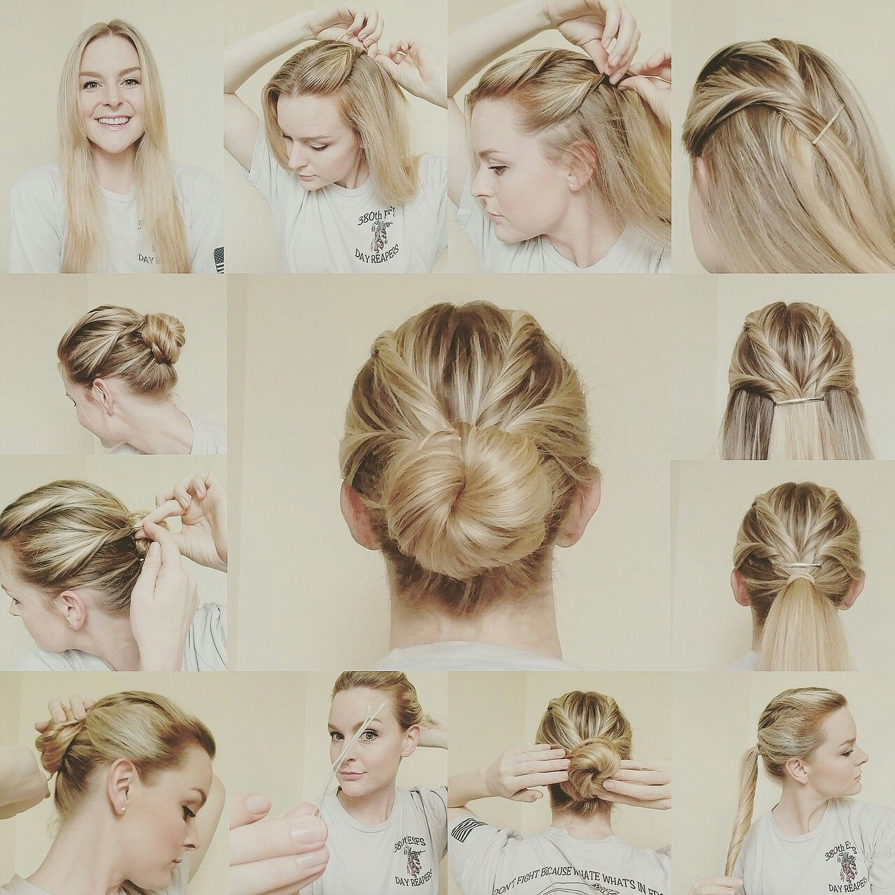 Twisty bun-updo (great for military) | Hair | Pinterest | Bun updo ...