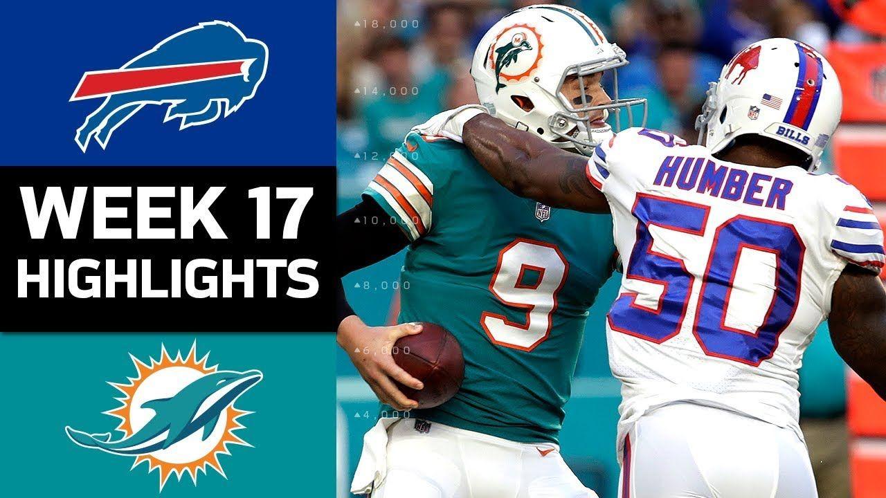 Bills vs. Dolphins NFL Week 17 Game Highlights Nfl