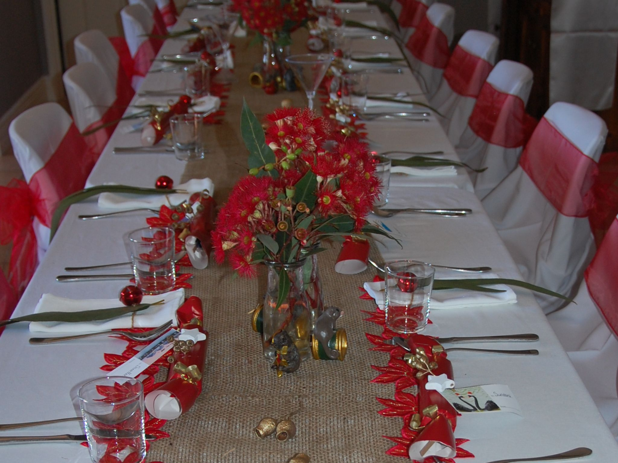 Australian Christmas Theme Table Setting 2013 Australian Christmas Aussie Christmas Diy Holiday Decor