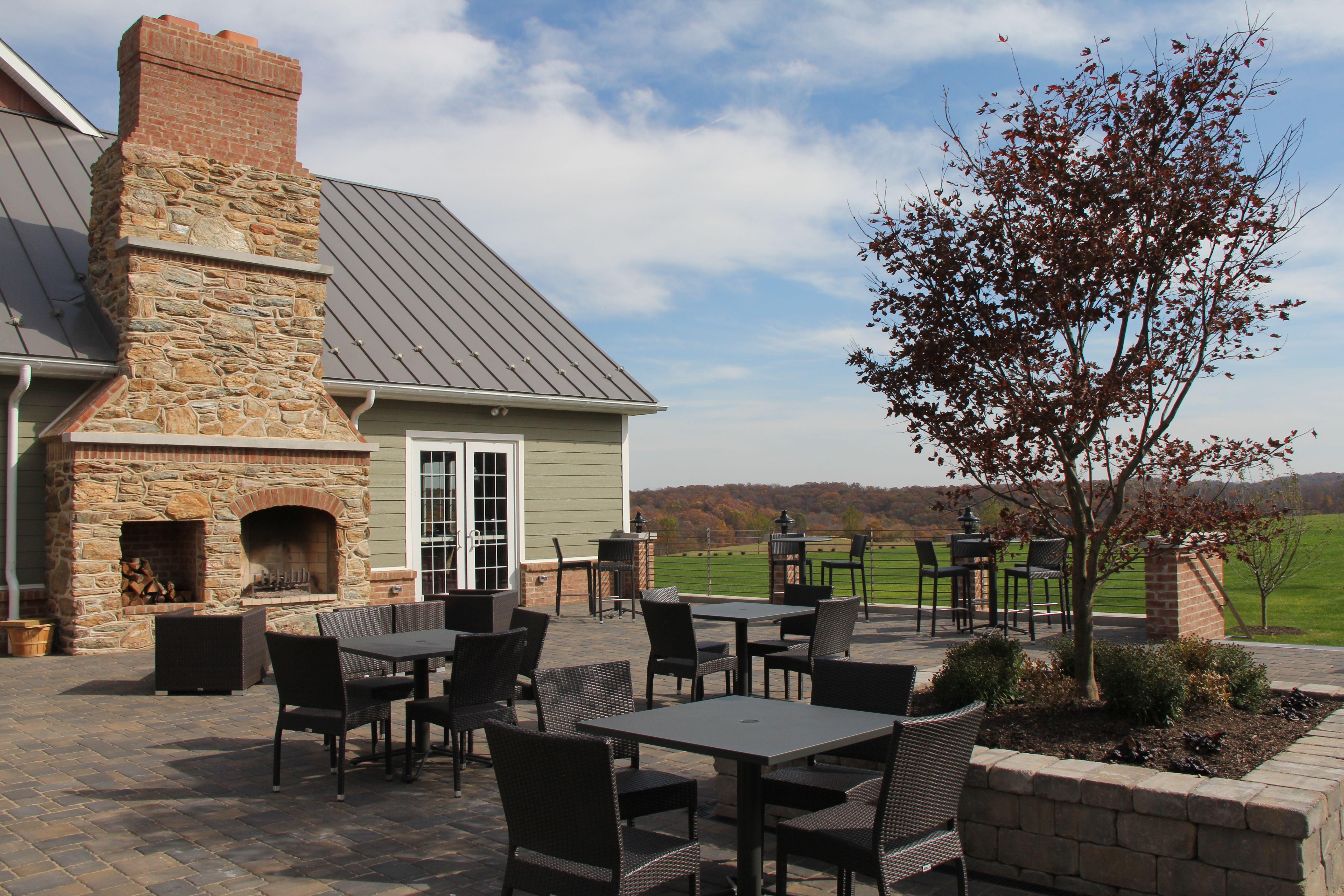 The Wyndridge Farm Terrace.
