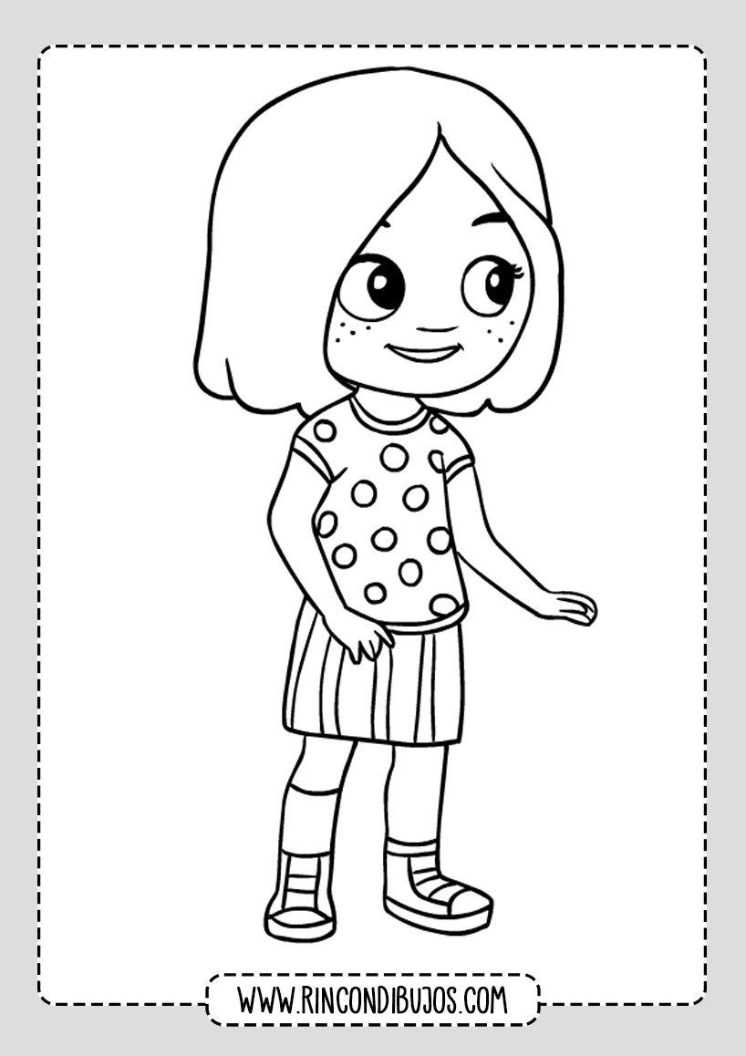 Dibujo De Nina Bonita Rincon Dibujos Dibujos Para Ninos Dibujos Ninos