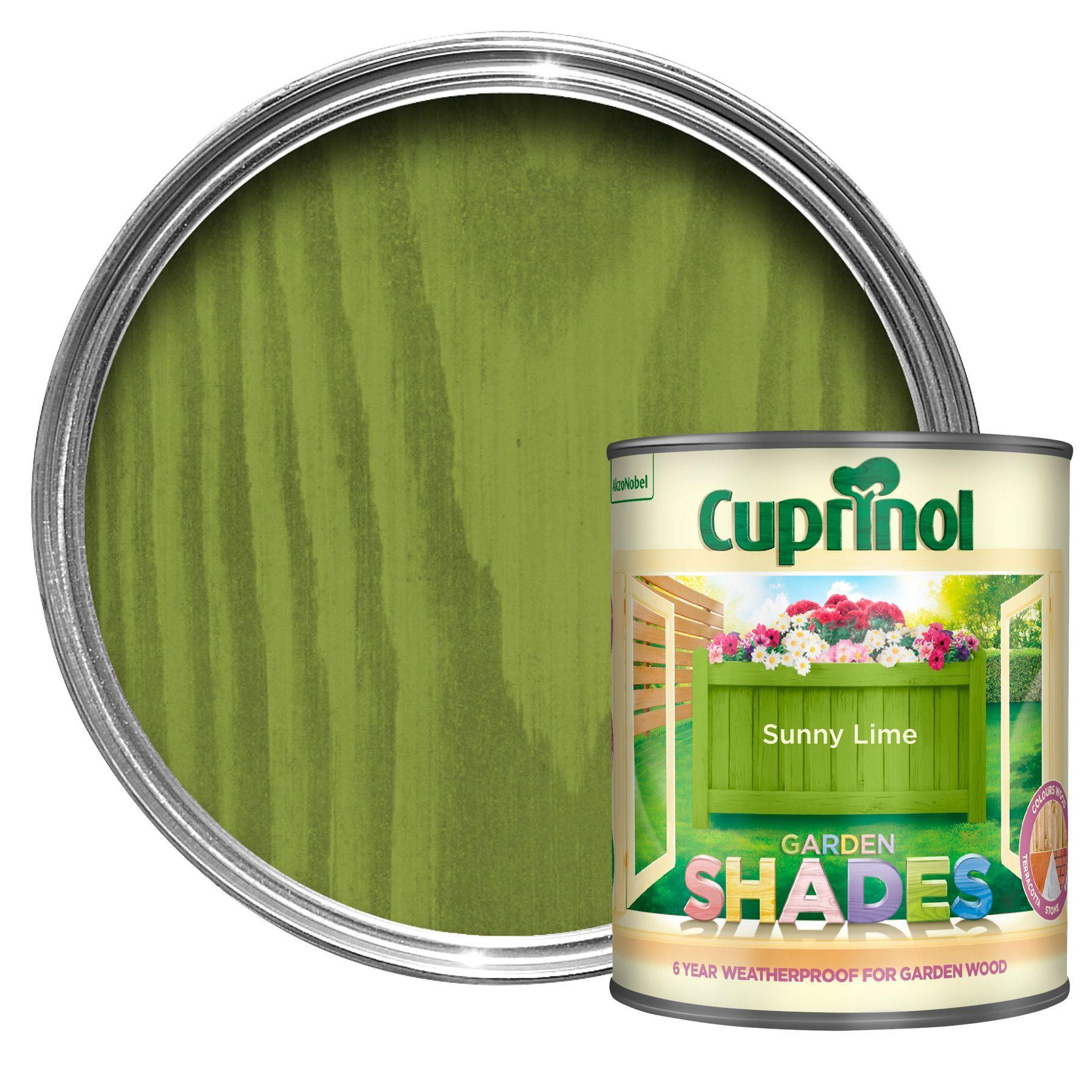 Cuprinol Garden Shades Sunny Lime Matt Wood Paint 1L B&Q