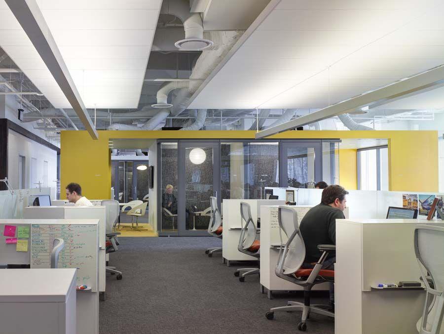 open office area austin tx Office ceiling design, Open