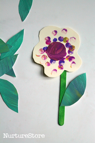 Finger Painting Spring Flower Craft Toddlers