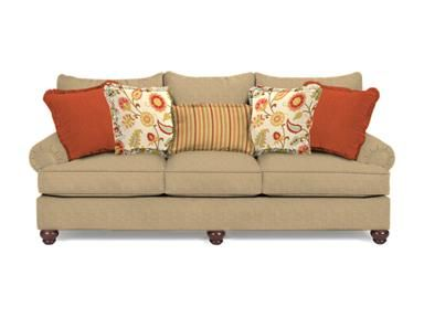 Craftmaster Living Room Three Cushion Sofa At Wells Home Furnishings   Wells  Home Furnishings   Charleston, WV