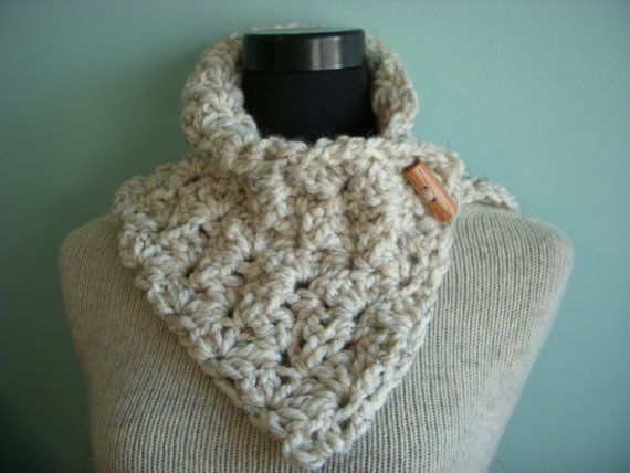 Instant Download PATTERN Crochet Cowl PDF Madison Cowl Toggle Button ...
