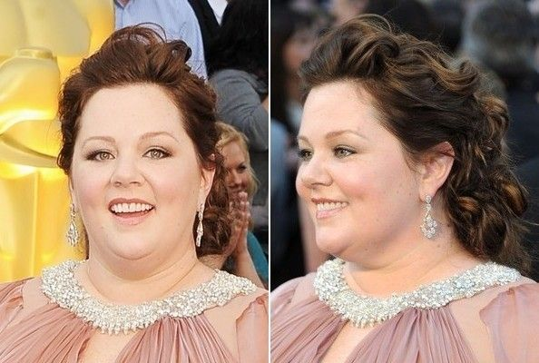 Melissa Mccarthy Hairstyles Fascinating Melissa Mccarthy  Half Updo Oscar Hairstyles And Updo