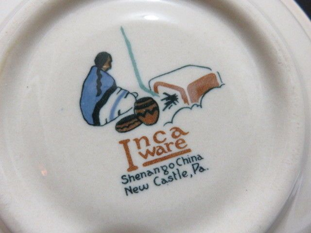 Nestle S Hot Chocolate Inca Ware Shenango China Cup Saucer New Castle Pa China Cups Cup And Saucer Hot Chocolate