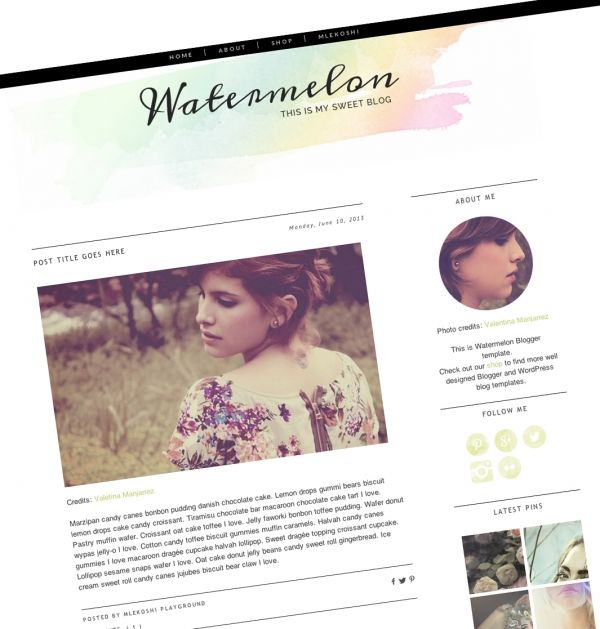 Watermelon #Blogger #Template - #Luvly #Responsive #Themes