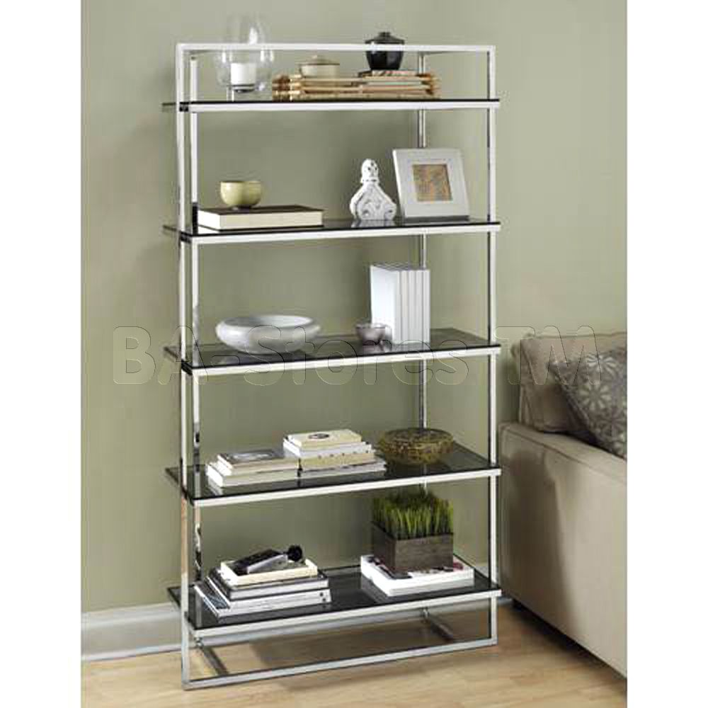 The Sleek Metal Frame And Clean Glass Shelves Of Our Tag Manhattan Bookcase  Are Urban Sophistication At Its Finest.