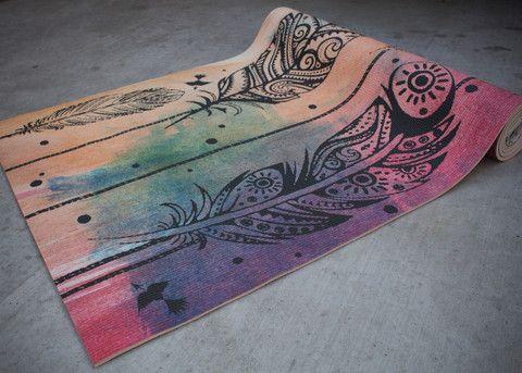 yoga mat  sayulita print  print yoga mat yoga mat yoga