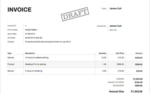Harvest App Track Time Expenses Send Invoices Oubliette - Harvest invoice app