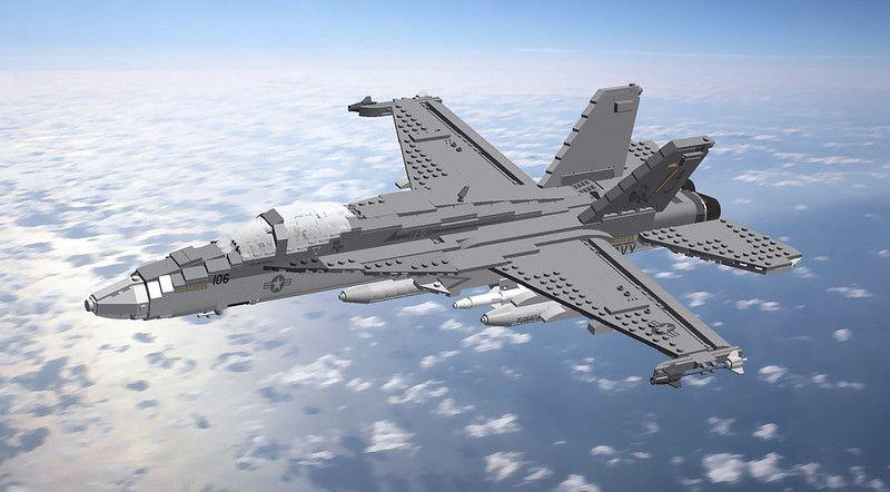16 FA-18E Super Hornet (USN)   Although both aircraft share