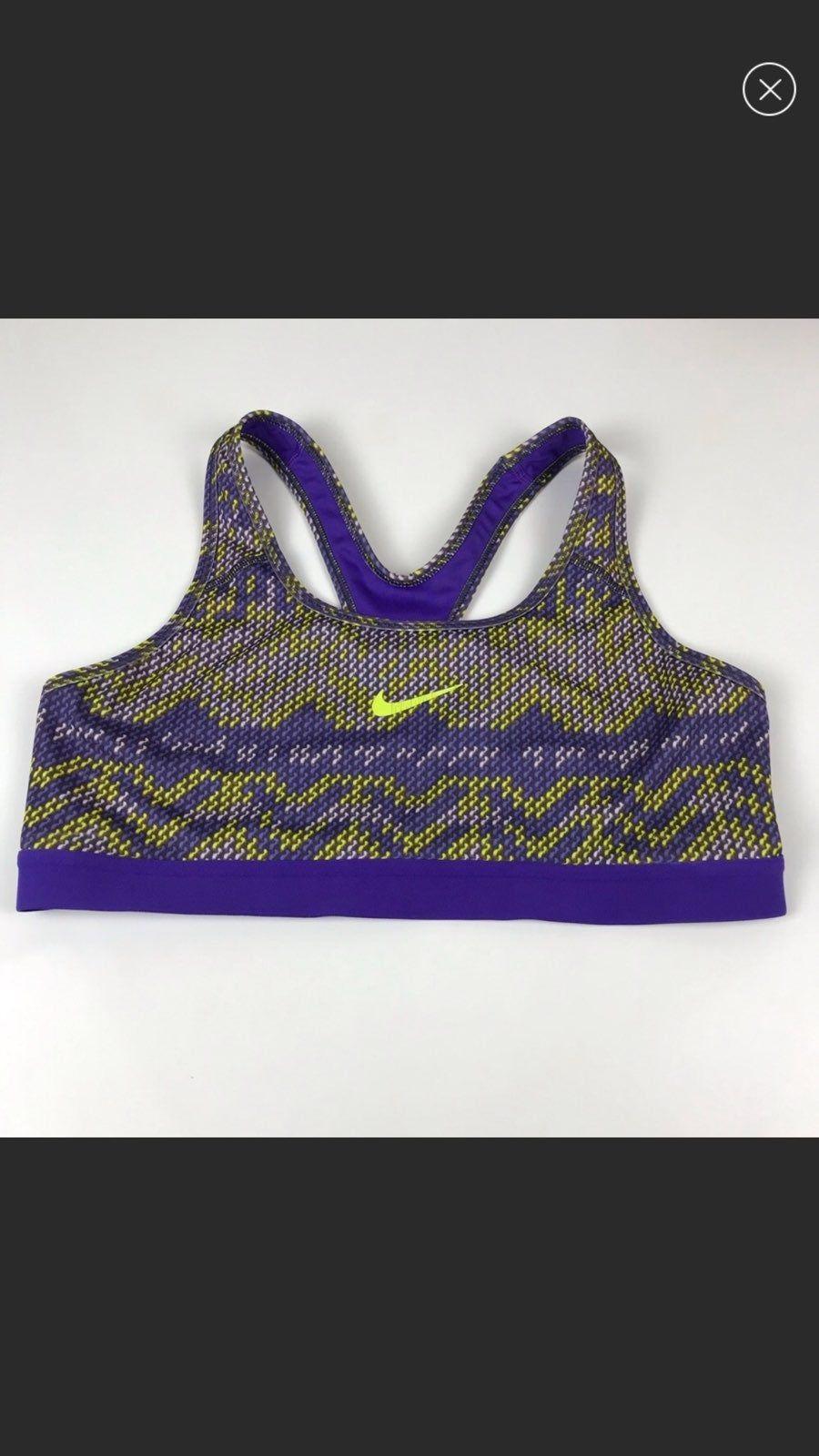 Nike sports bra purple with cool neon Bra, Sports, Nike