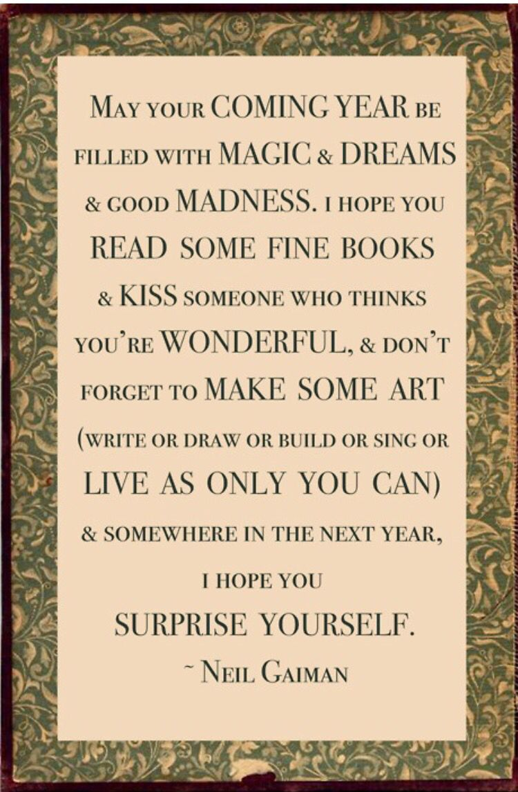 Neil Gaiman new year quote 2 Quotes about new year