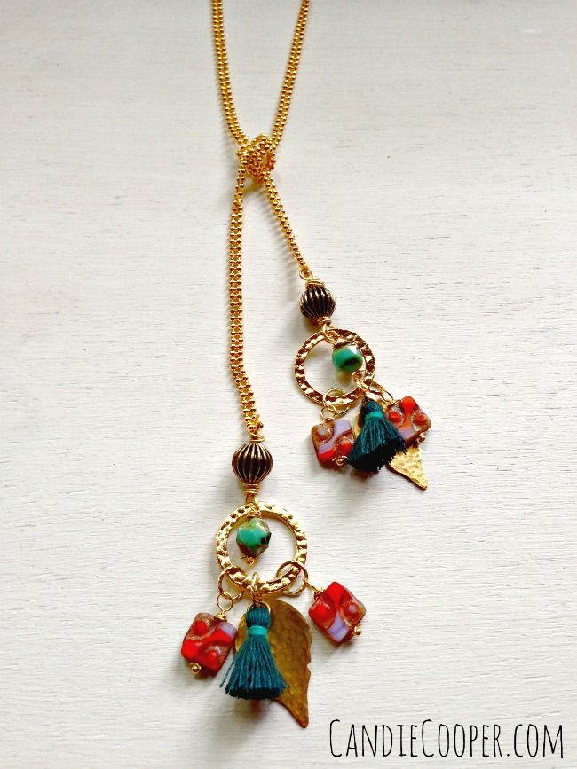 DIY Jewelry Making: @Candace Majeska Cooper made this necklace with ...