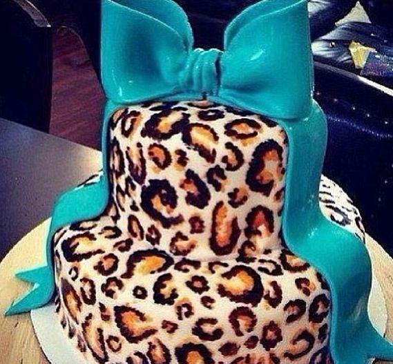 Cheetah print cake design CheetahAddict Pinterest Cheetah
