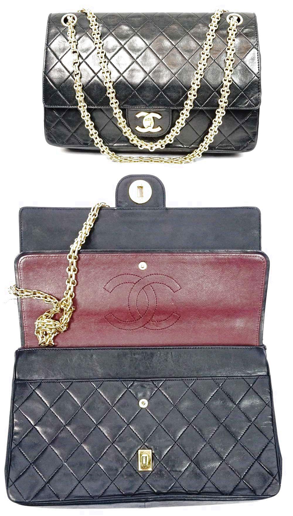 chanel lamb skin leather cc logo black chain tote purse handbag shoulder bag 89999 chanel handbags pinterest tote purse logos and lamb