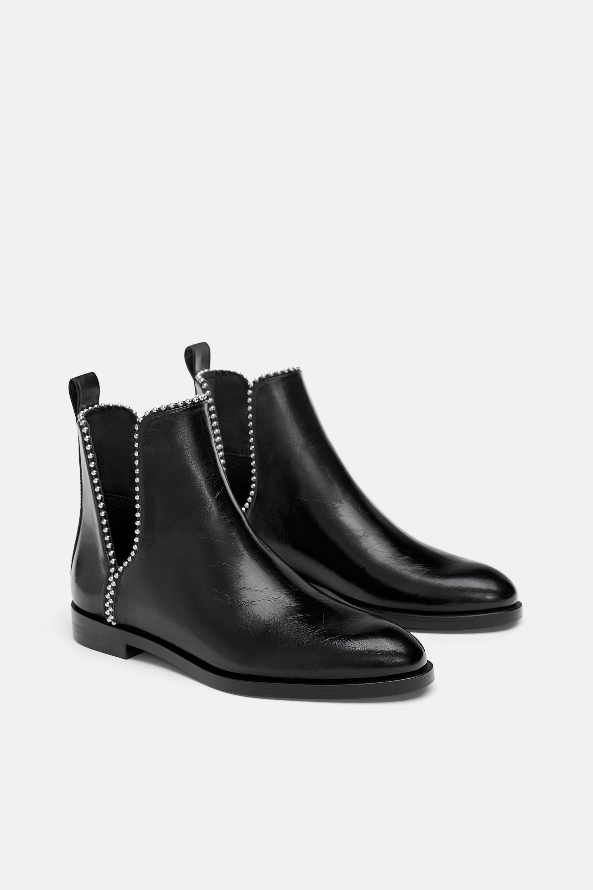 4028944ea4 Flat ankle boots with openings in 2019 | Fashion is the new Black ...
