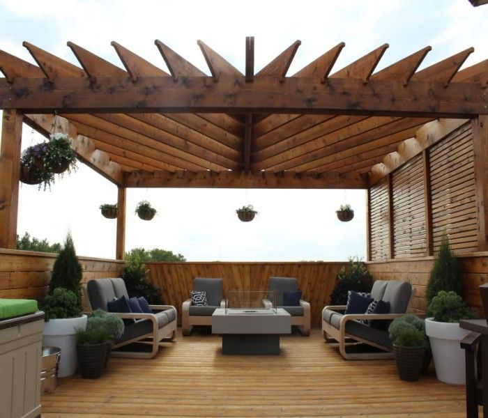 Rooftop pergolas a creative bar ideas