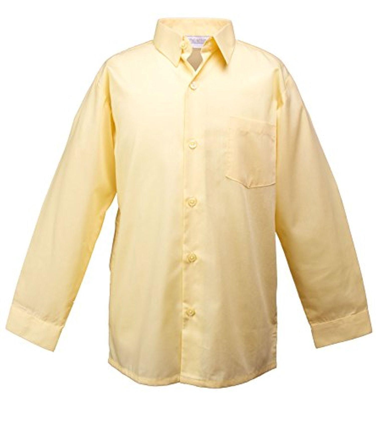 16fa269fcb4 Spring Notion Big Boys  Long Sleeve Dress Shirt 2T Yellow - Brought to you  by Avarsha.com