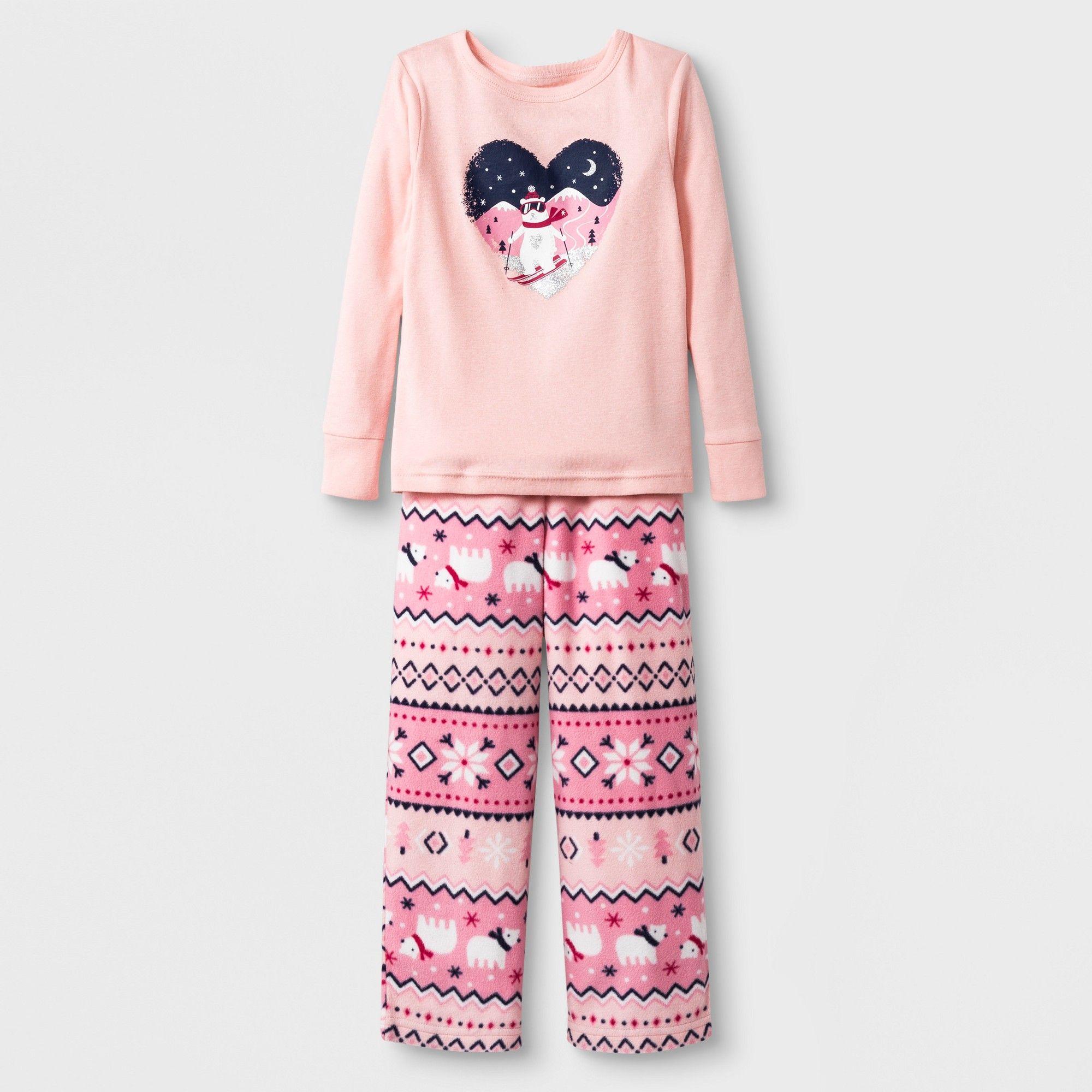 5e4d9e60b6 Toddlers  2pc Bear Pajama Set - Cat   Jack Pink 4T