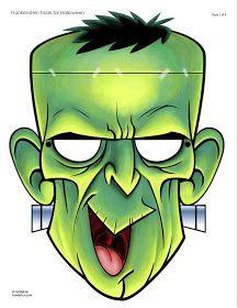 Mascaras Y Caretas De Halloween A Color Com Imagens Dia Das Bruxas Caretas Bruxas
