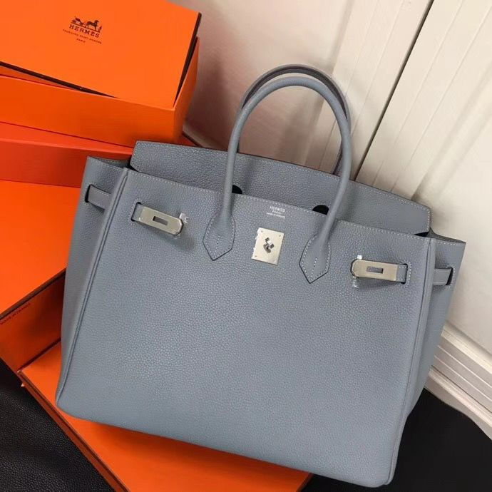 a01f333b93b Hermes woman birkin tote bag Togo grainy leather original leather version  35cm