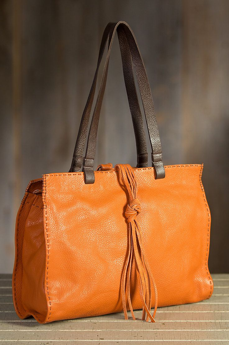 Overland Carmel Vintage Leather Tote Bag Sheepskin