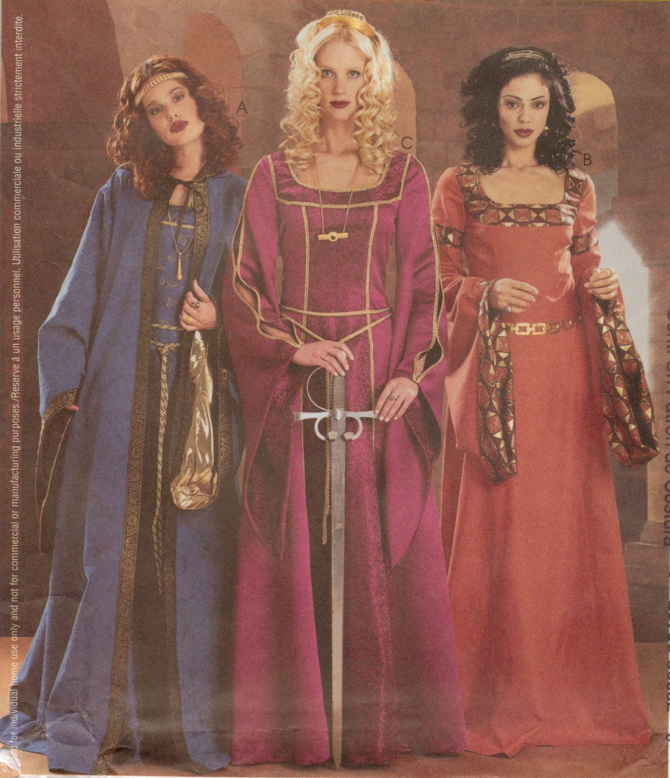 Pin by caper crafts on halloween costumes sew patterns pinterest misses gothic medieval renaissance dress gown hooded cape costume pattern 14 20 jeuxipadfo Images