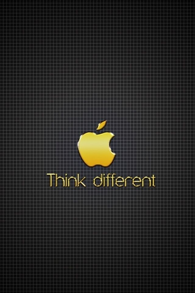 Golden Apple Think Different Iphone 4 Wallpapers Apple