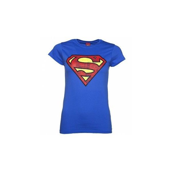 33bd41460 Women s Charcoal Distressed Superman Logo T-Shirt ( 13) ❤ liked on Polyvore  featuring