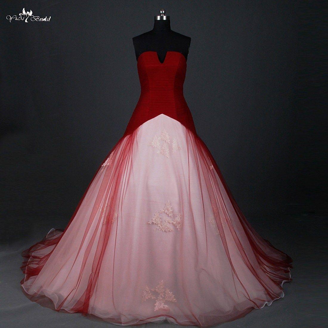 Aus #Brautkleid #Buy #China #Für #Inspiration #online #rotes