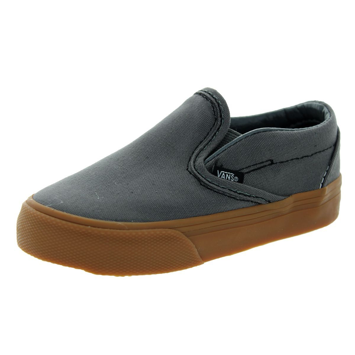 Vans Toddlers Classic Slip-On Pewter/Gum Skate Shoes