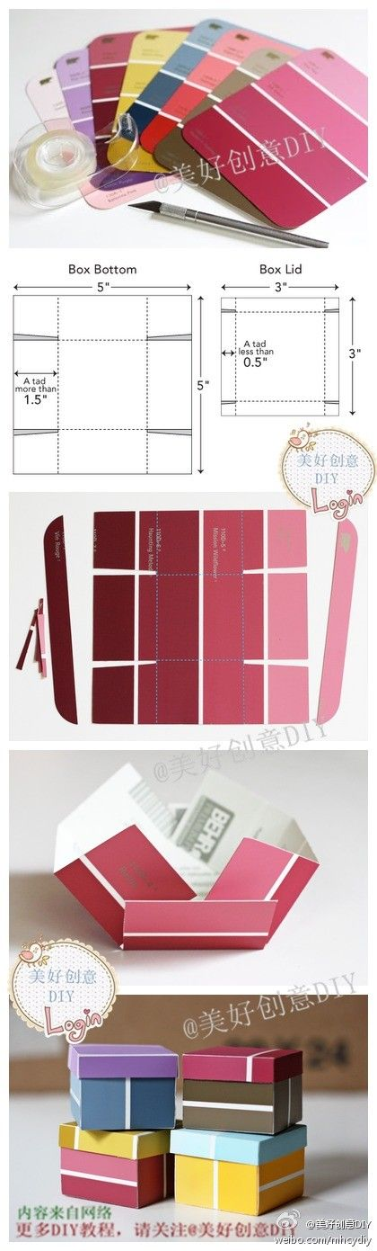 DIY: Paint Sample Mini Box...i WILL be doing this :) - Click image to find more DIY & Crafts Pinterest pins