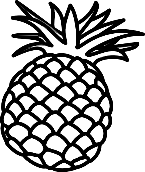 6 best images of pineapple outline printable pineapple coloring rh pinterest co uk