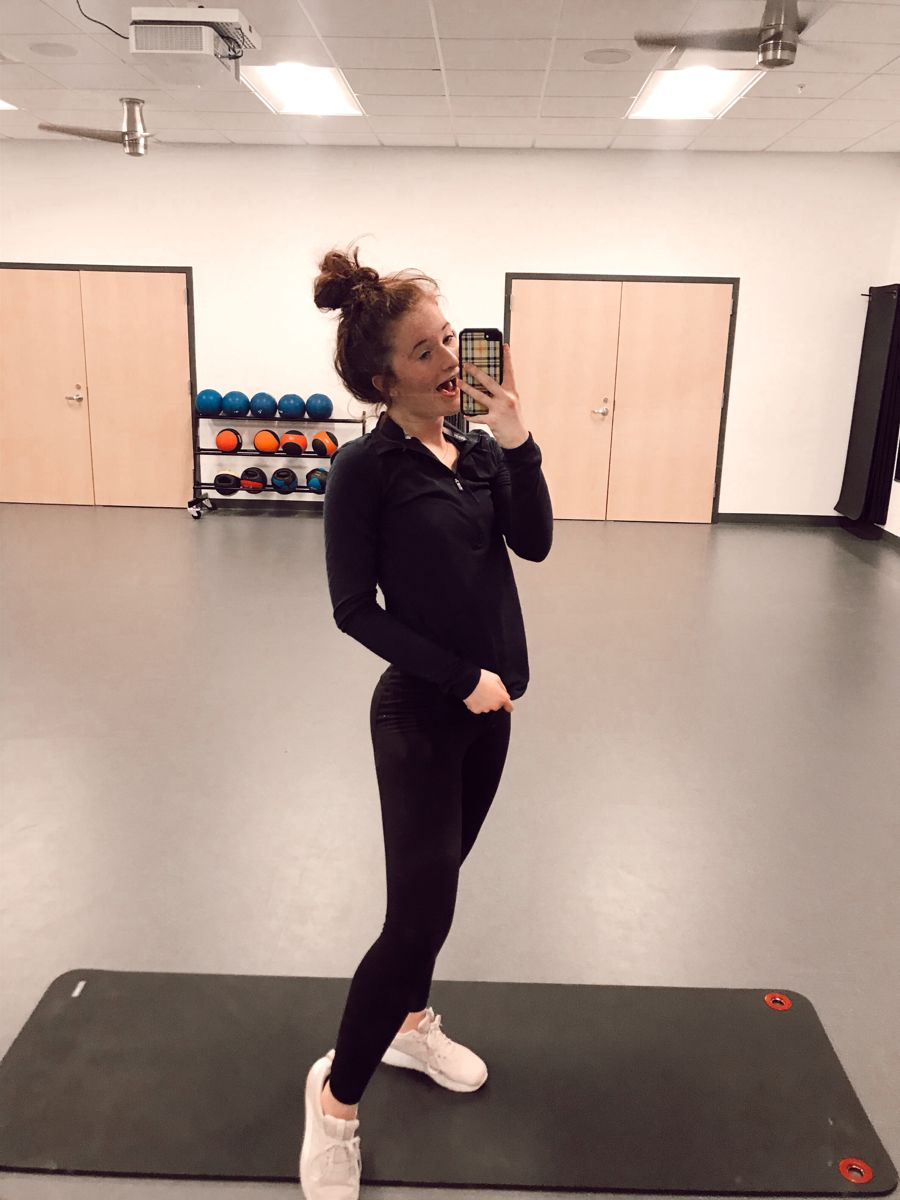 I was excited bc I got the mirror room all to myself :) #gym  #gymlife #gymmotivation #fitnessmotiva...