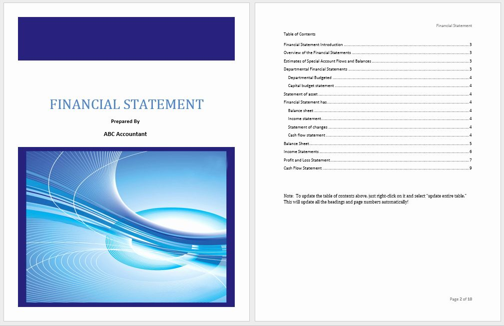 Financial Plan Template Word in 2020 (With images)