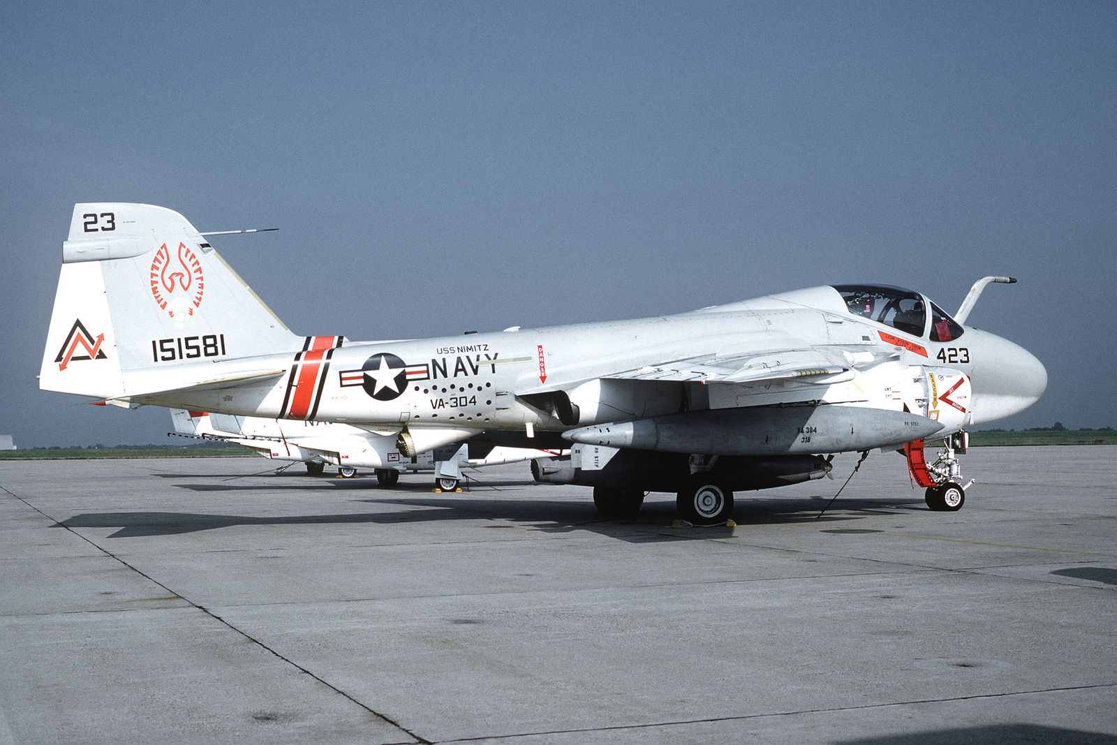 A right side view of an Attack Squadron 304 (VA304) KA6D