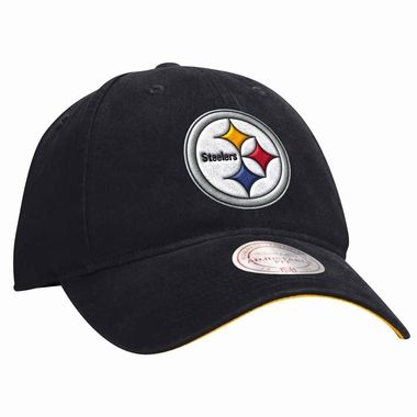 947e40ad711 Pittsburgh Steelers Mitchell   Ness Throwback Logo Slouch Adjustable ...