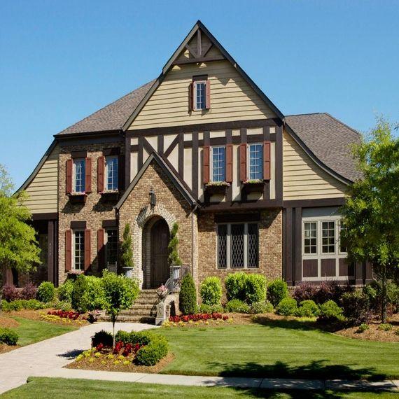Better Homes And Gardens Interior Designer Exterior house also english castle plans brick tudor style home renovation