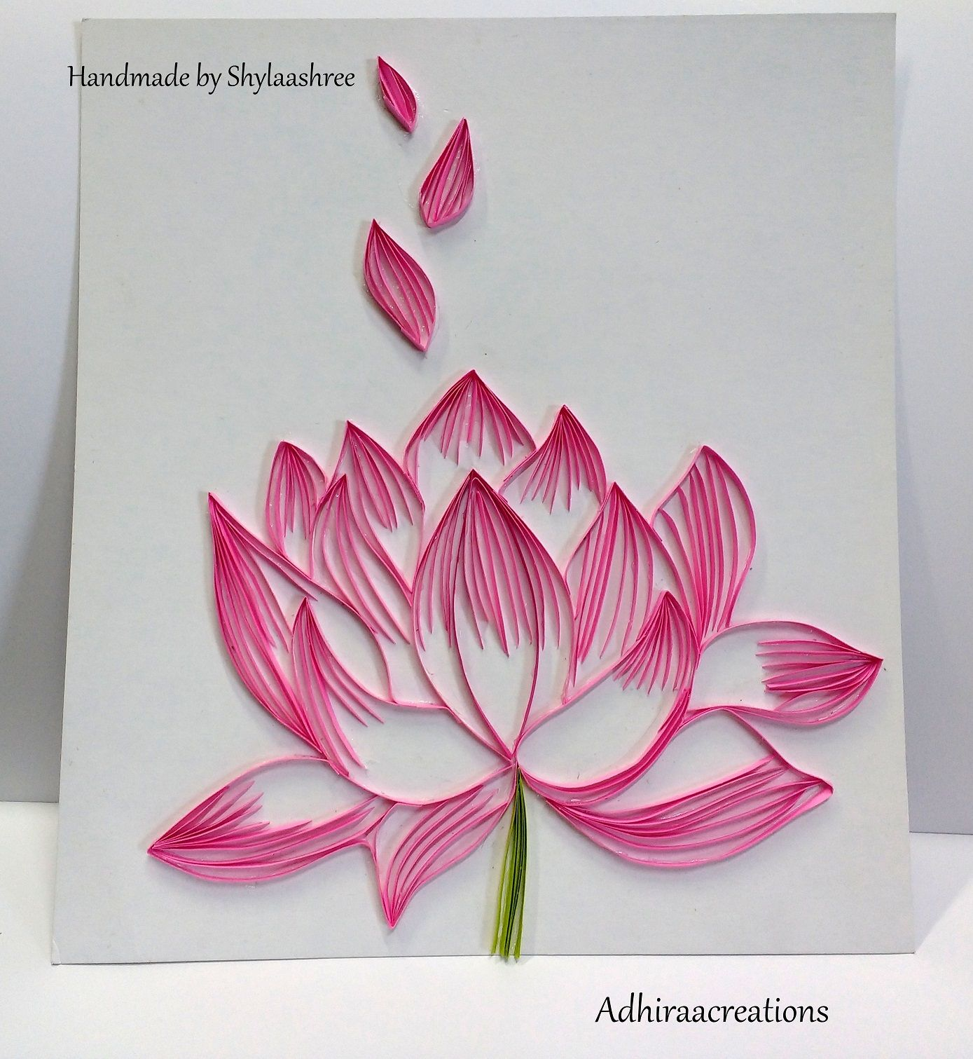 Adhiraacreations Quilled Lotus Quilling Quilling Art Quilling