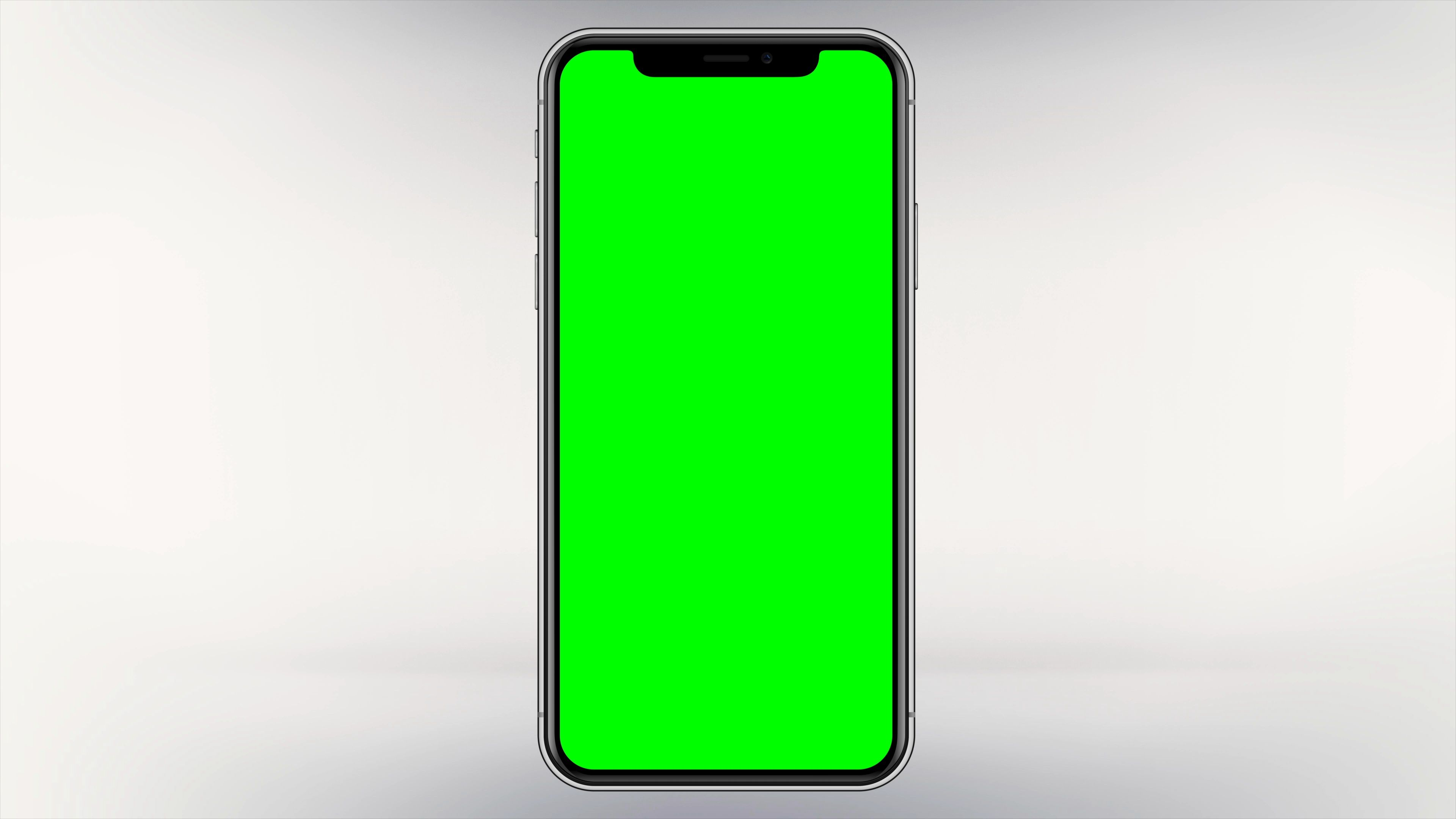 Blank iPhone X Green Screen Mobile Phone Isolated Smartphone White