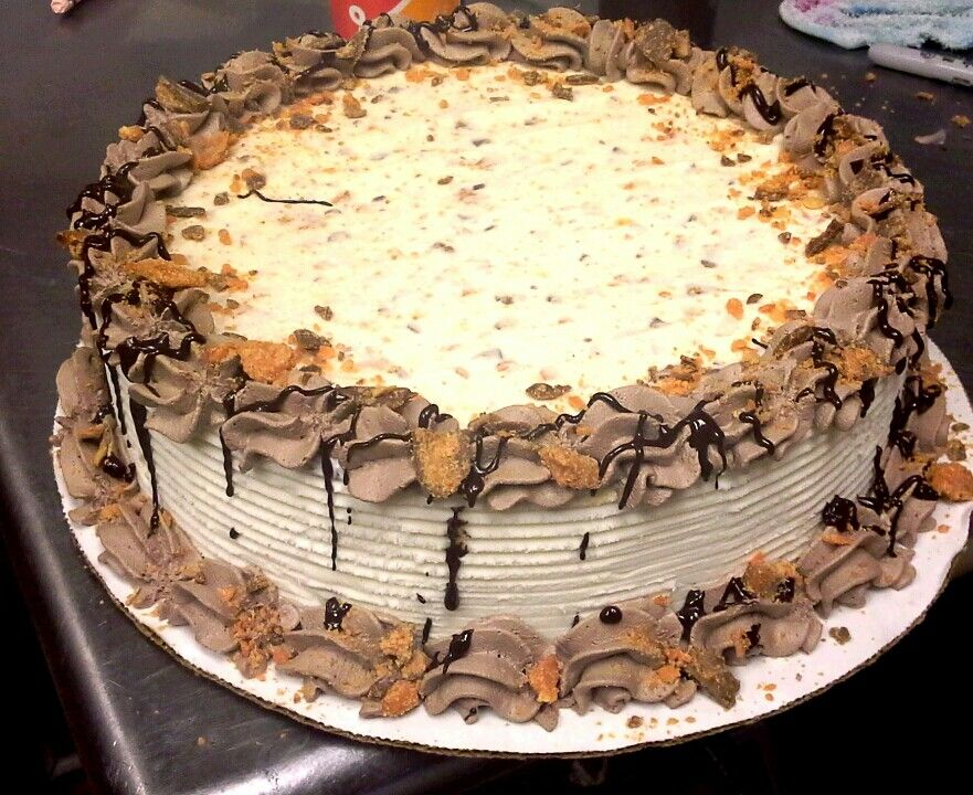 Butterfinger Ice cream cake by Kayla, DQ of Durango Co