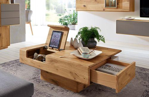 Wöstmann Sineo Couchtisch europ Wildeiche massiv - Möbel Mit www - kücheninsel selbst gebaut