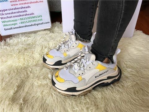 huge selection of f1ee4 95160 Cool Replica Balenciaga Triple S Fall Winter Sneaker Yellow White Black .