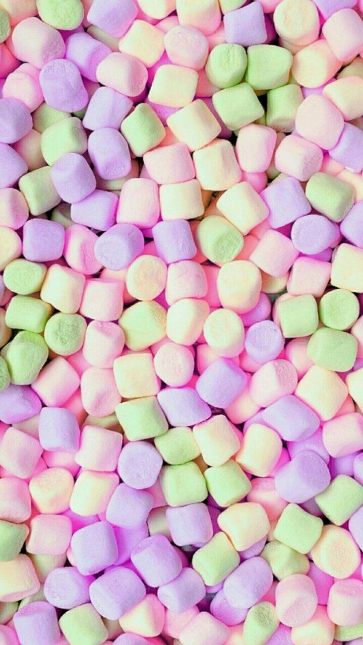 Marshmallow Food Wallpaper Cute Wallpapers Cute Marshmallows