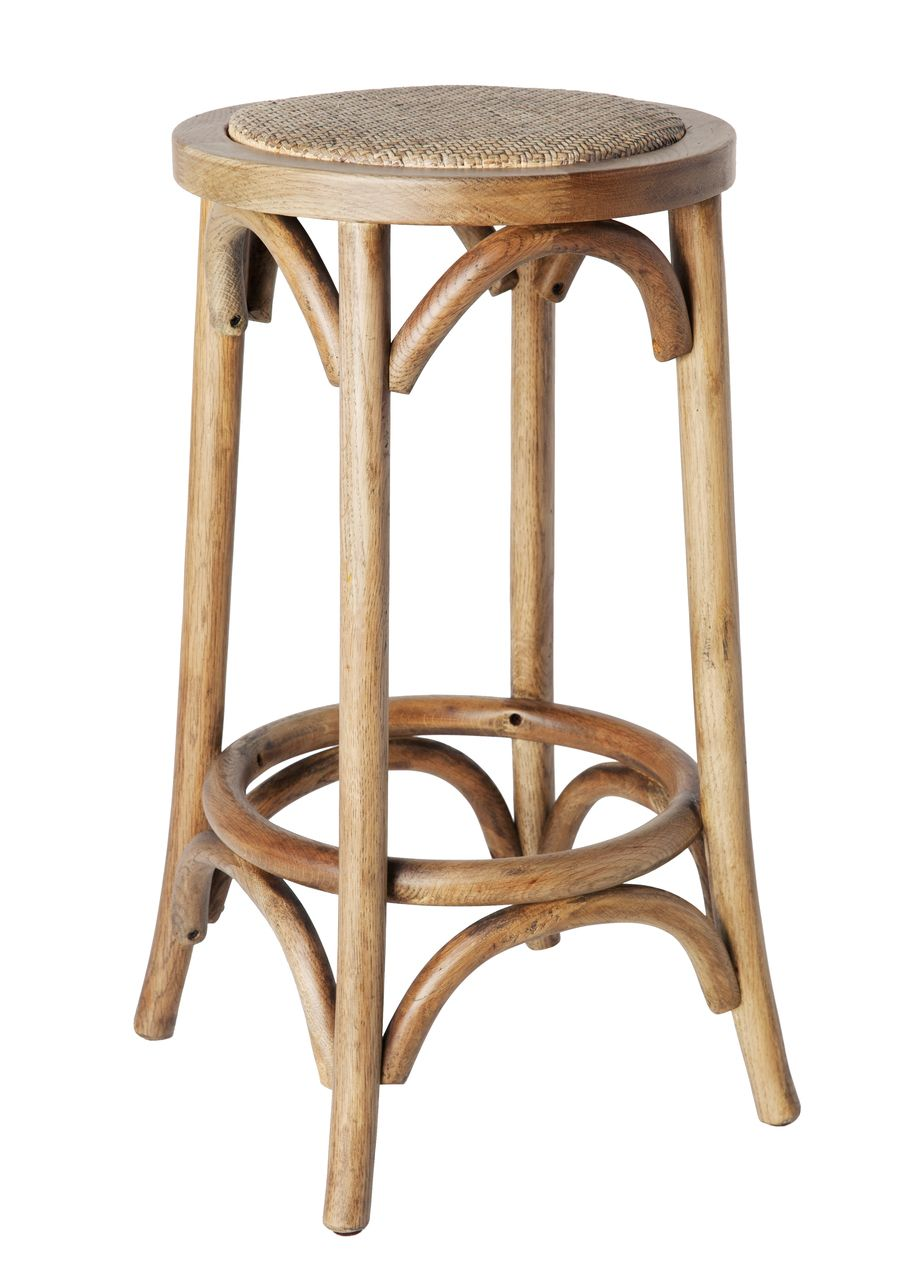 Oak Kitchen Bar Stools With Backs Cross (no Back) Counter Stool - American Oak - Various